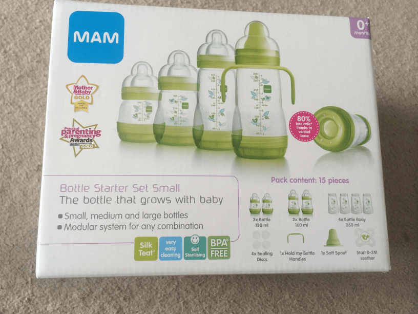MAM Bottle starter set Review